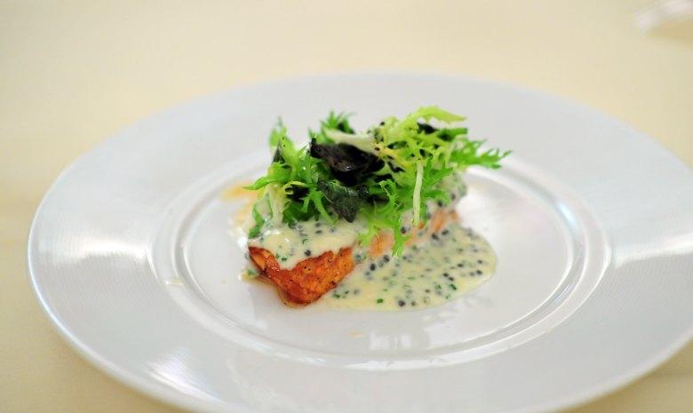 4th Course: Smoked to Order Scottish Salmon