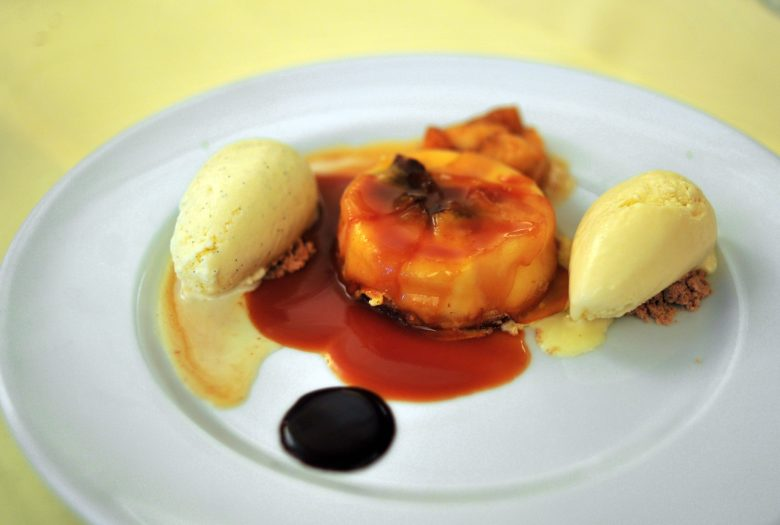 Dessert: Hot Caramelized Anjou Pear