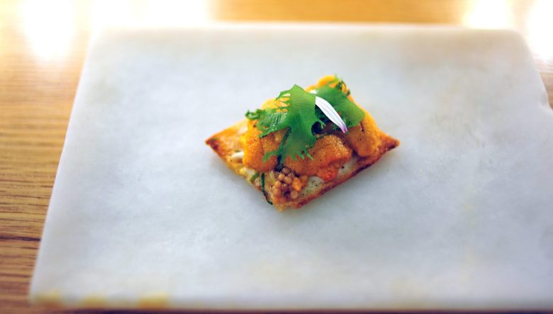 4th Course: Sea Urchin Toast