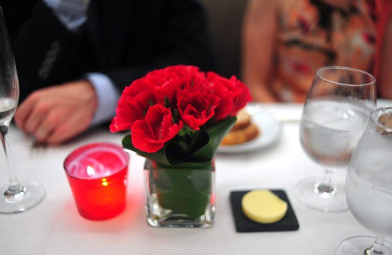 At table.