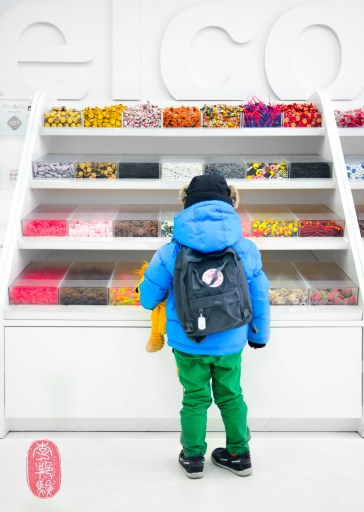Kid in a candy store.