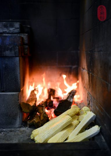 Cobs by the fire.