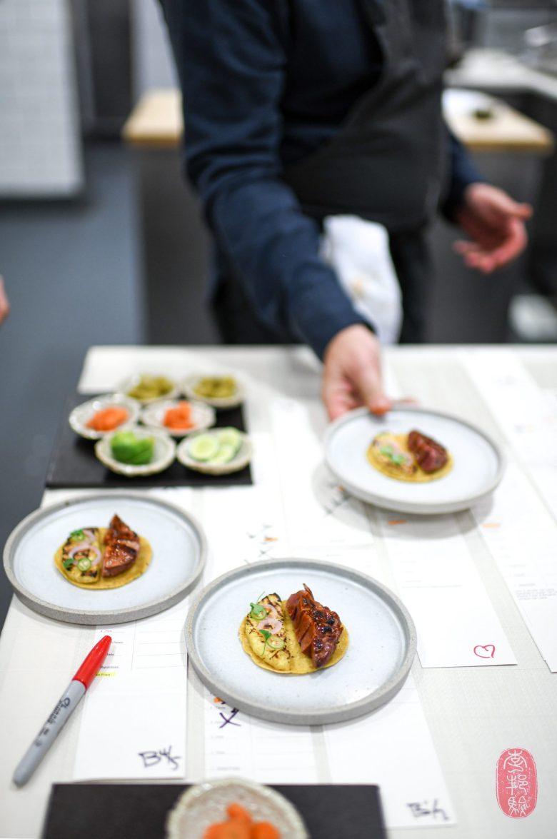 Canapé: Squab Taco