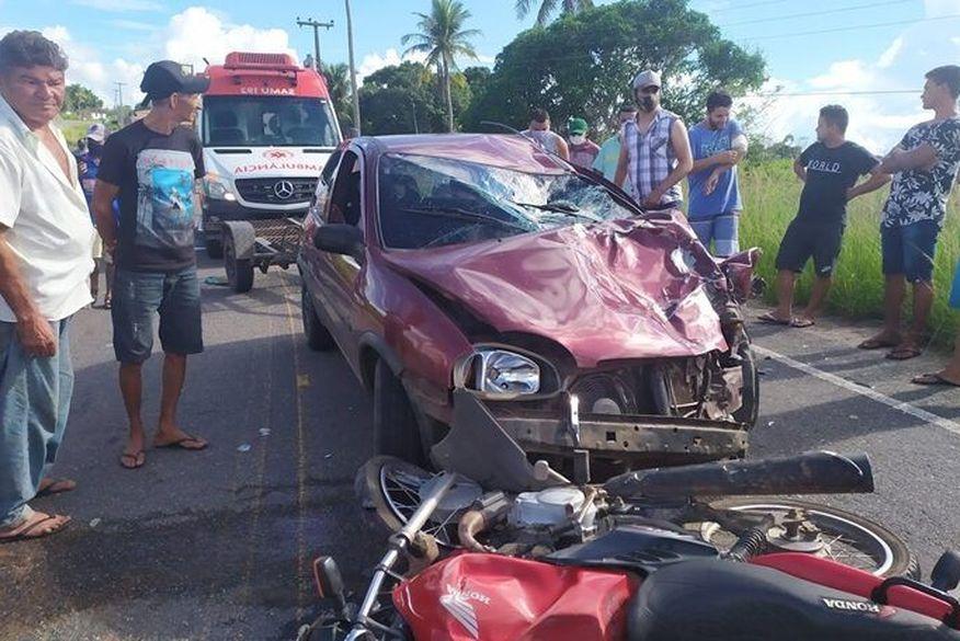 Colisão entre moto e carro mata dois homens entre Lagoa de Dentro e Pedro Régis