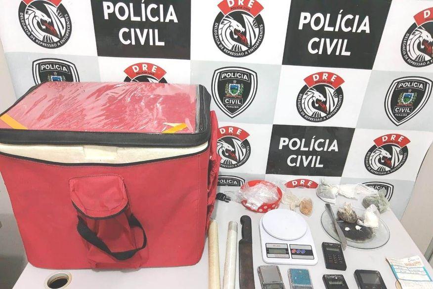 Entregador de pizzas é preso suspeito de fazer 'delivery' de drogas e receber pagamento com cartão de crédito em Campina Grande