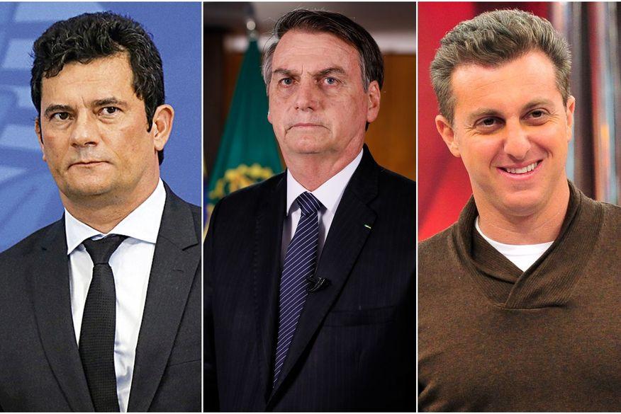 Sem cargo, Moro recua em ranking digital, Bolsonaro retoma topo, e Huck avança ao falar de pandemia