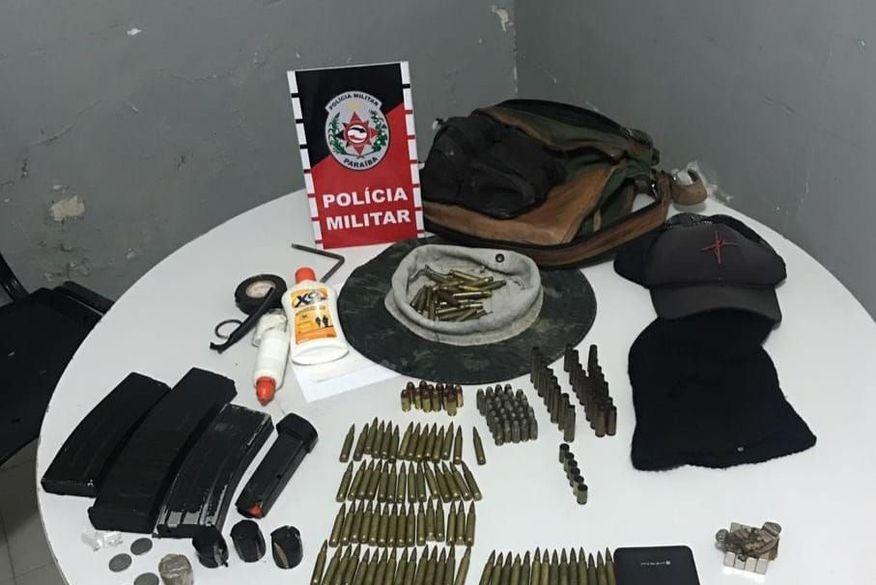 Após intensa troca de tiros, polícia apreende grande quantidade de munições no Sertão do Estado