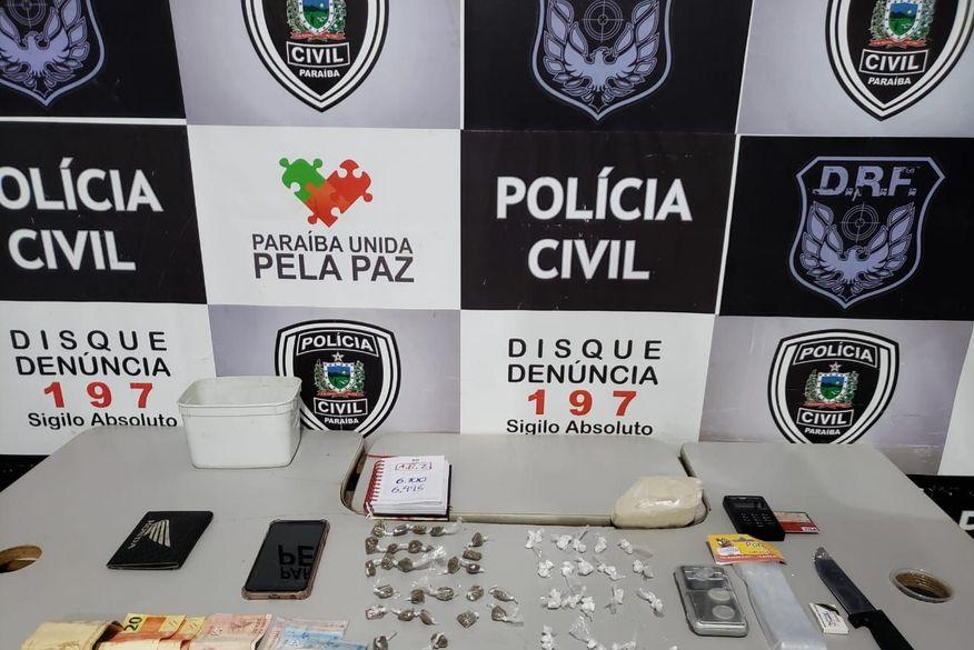 Traficante é preso em Campina Grande e Polícia Civil desarticula ponto de venda de drogas