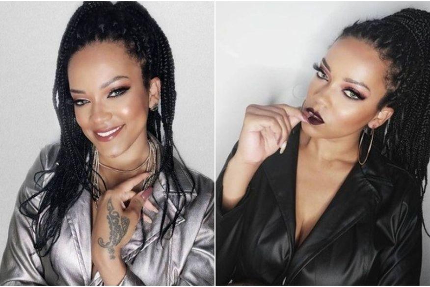 Influenciadora brasileira faz sucesso na web por semelhança com Rihanna
