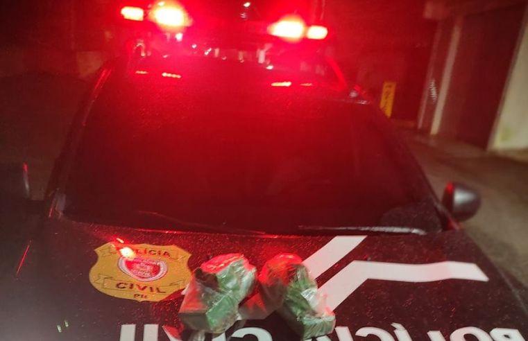 Polícia Civil apreende maconha e prende dois suspeitos de tráfico em Areia
