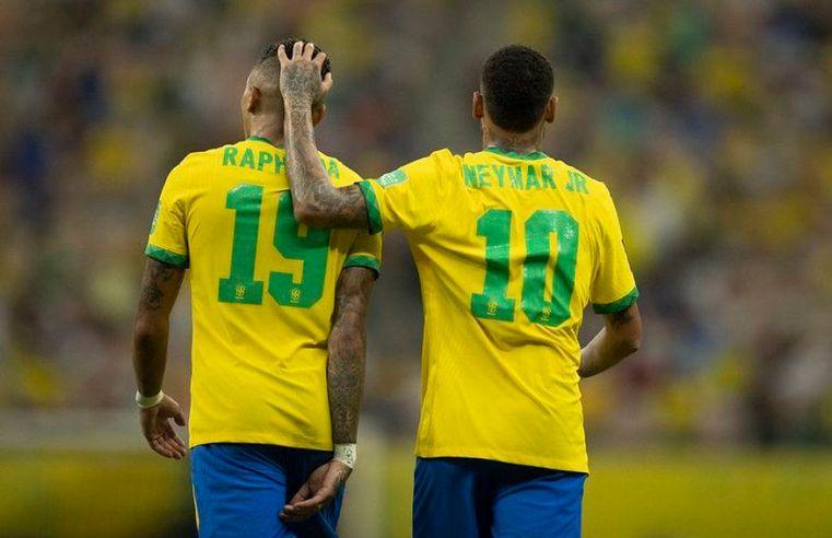Raphinha e Neymar brilham, e Brasil goleia o Uruguai nas Eliminatórias