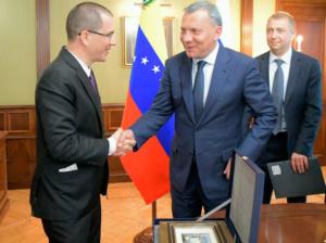 Arreaza dialogó sobre cooperación económica y comercial con Borisov