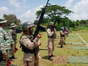 La Milicia realizó ejercicios a fin de elevar la cohesión combativa