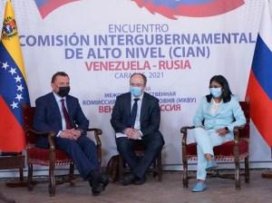 Vicepresidenta Delcy asiste a reunión de alto nivel Rusia-Venezuela