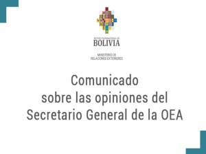 """""""Almagro no tiene autoridad moral para referirse a Bolivia"""" (+Comunicado)"""