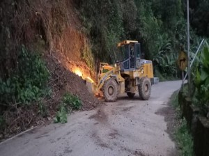 Landslides are registered on the Barinas - Mérida highway after heavy rains