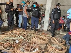 Poliguaira aprehende 13 roba cables del SEN en La Guaira y Caracas