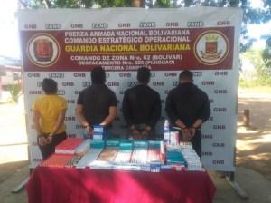 GNB detuvo a 4 personas por contrabando de medicinas en Bolívar