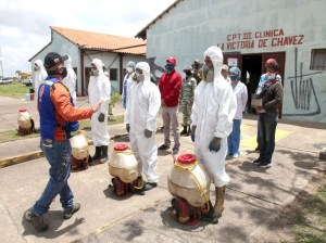 Six parishes of Maturín prioritized in disinfection day