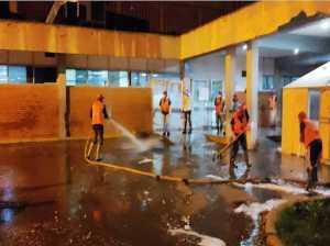 En cayapa realizaron limpieza al hospital centinela de Valles del Tuy