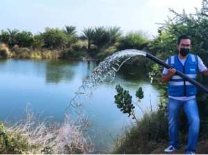 They discover illegal drinking water intake in the Díaz municipality