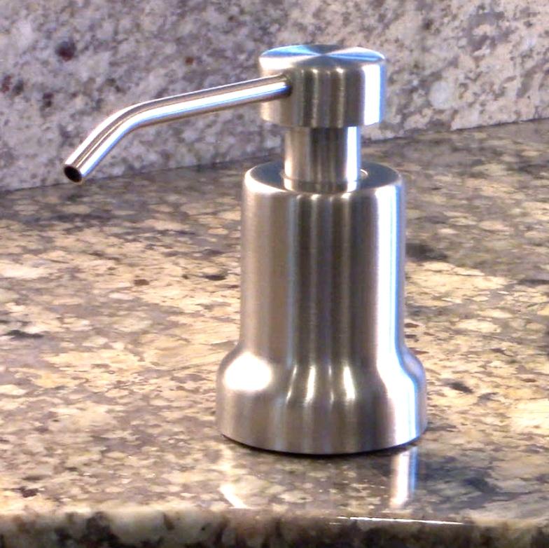 built in sink mounted foaming soap dispenser satin ultimate kitchen