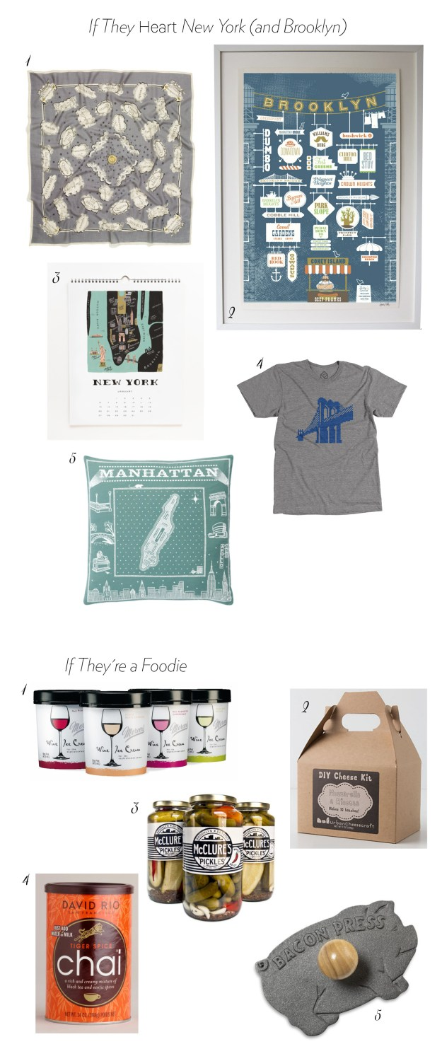 ultimate bridesmaid gift guide for foodies and new yorkers