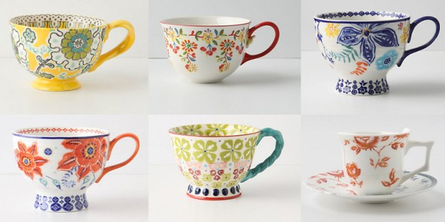anthropologie teacups