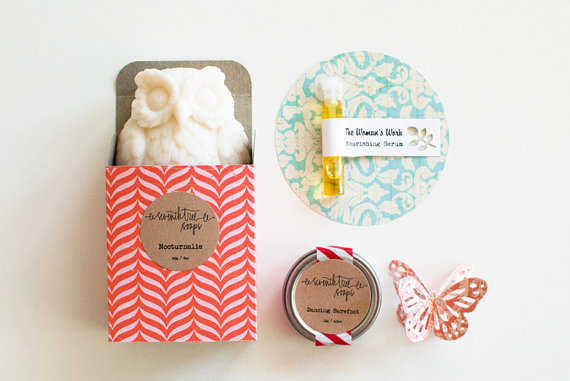 owl soap gift set