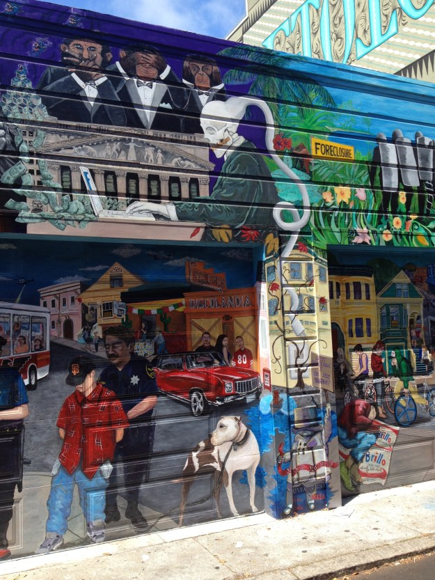 A Mural on Lucky Street in San Francisco's Mission District