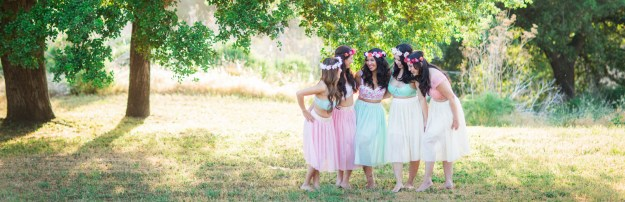a pastel garden boudoir bridal shower