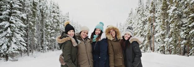 a winter girls getaway to lake louise