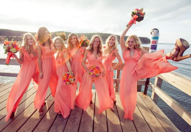 Delightful Little Things: Bridesmaids in Rompers