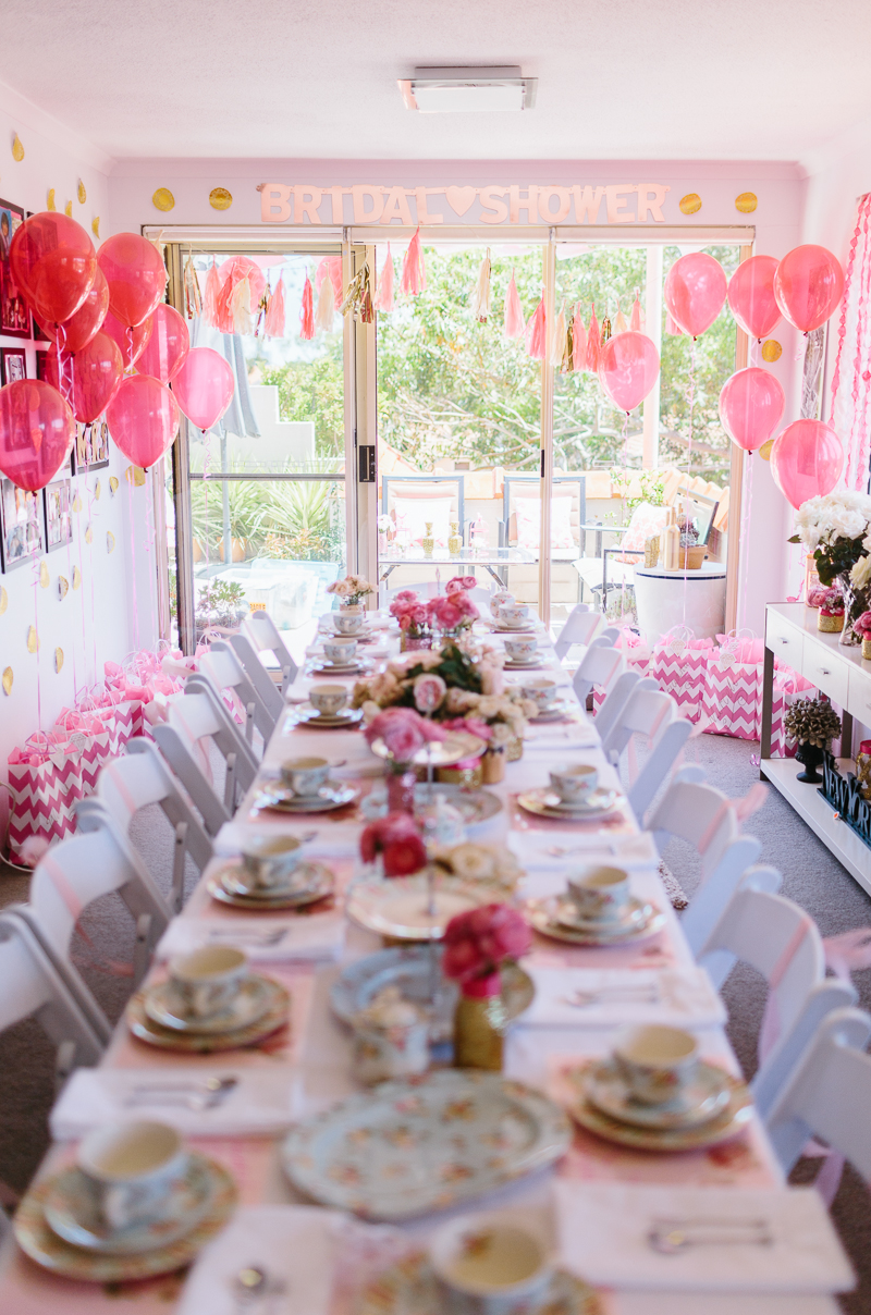 A Glittering Pink High Tea Shower In Sydney Australia