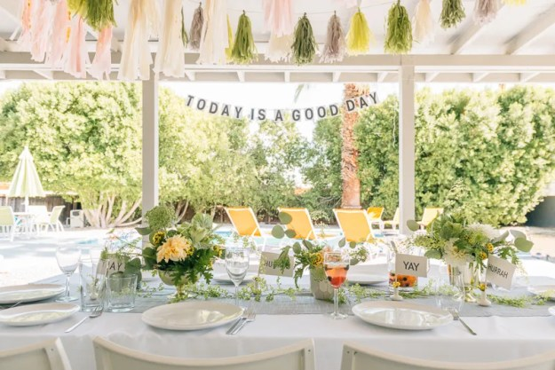 A Modern Whimsy Poolside Bridal Shower | Ultimate Bridesmaid | Jessica Park Photography