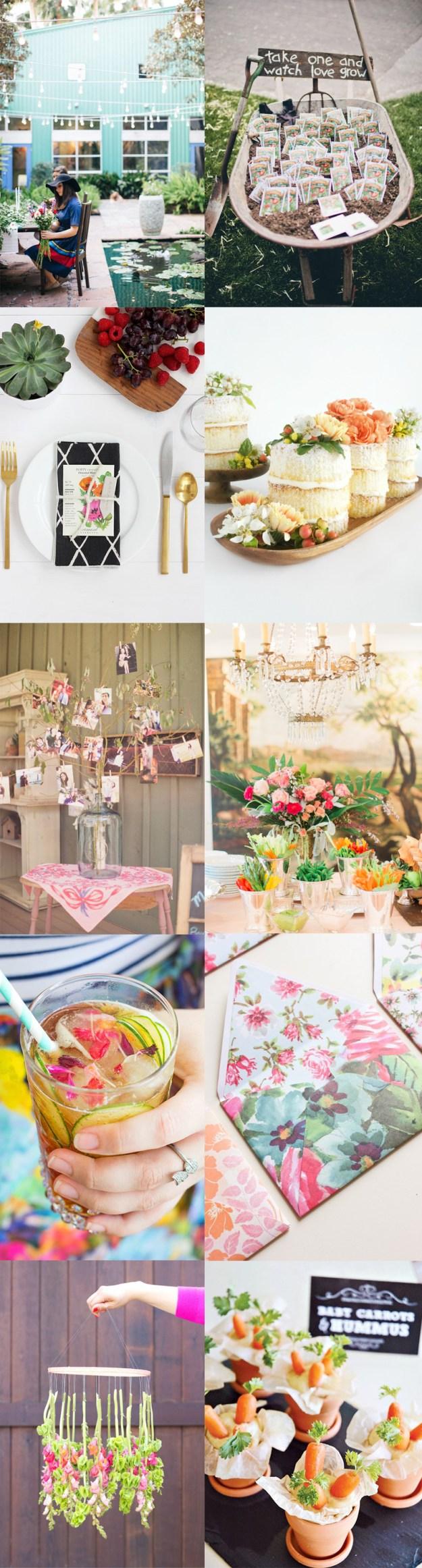 A Garden Party Bridal Shower Inspiration Board