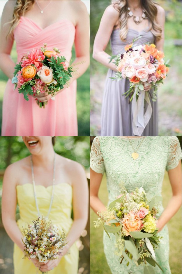Pastel Bridesmaid Looks