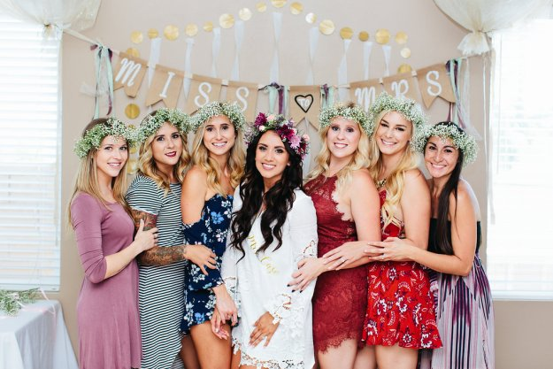 A Flower Crowns & Champagne Backyard Bridal Shower | Ultimate Bridesmaid | Dulcet Creative | Miss to Mrs bunting banner