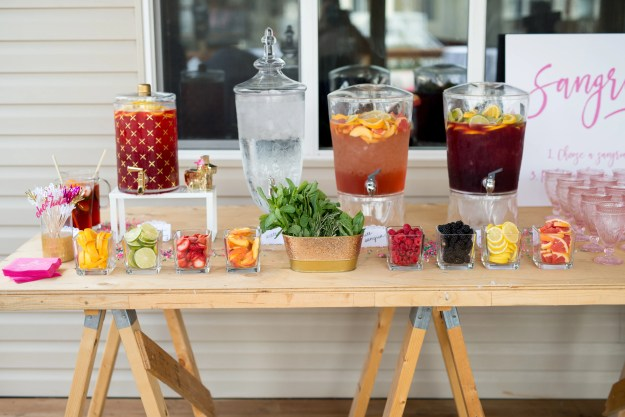 Sangria Bar. A Pink and Gold Fiesta Bridal Shower | Ultimate Bridesmaid | Christy D Swanberg Photography