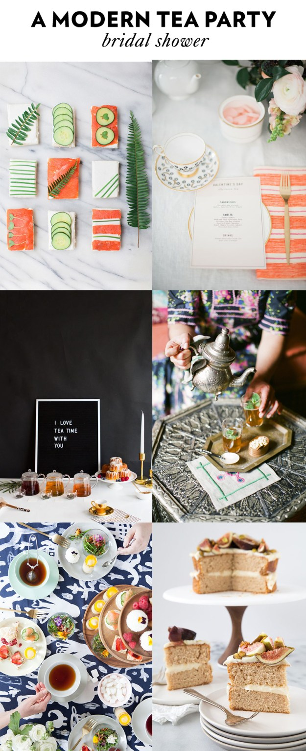 A Modern Tea Party Bridal Shower