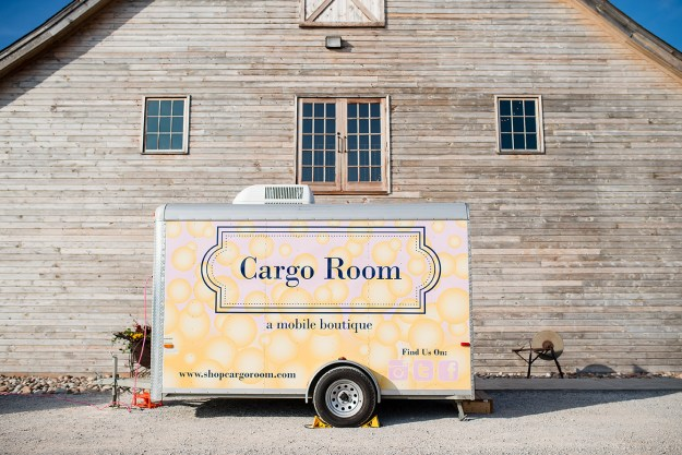 Mobile wardrobe, Cargo Room. A Rustic Barn Bridal Shower in Oklahoma | Ultimate Bridesmaid | Alex Dugan Photography