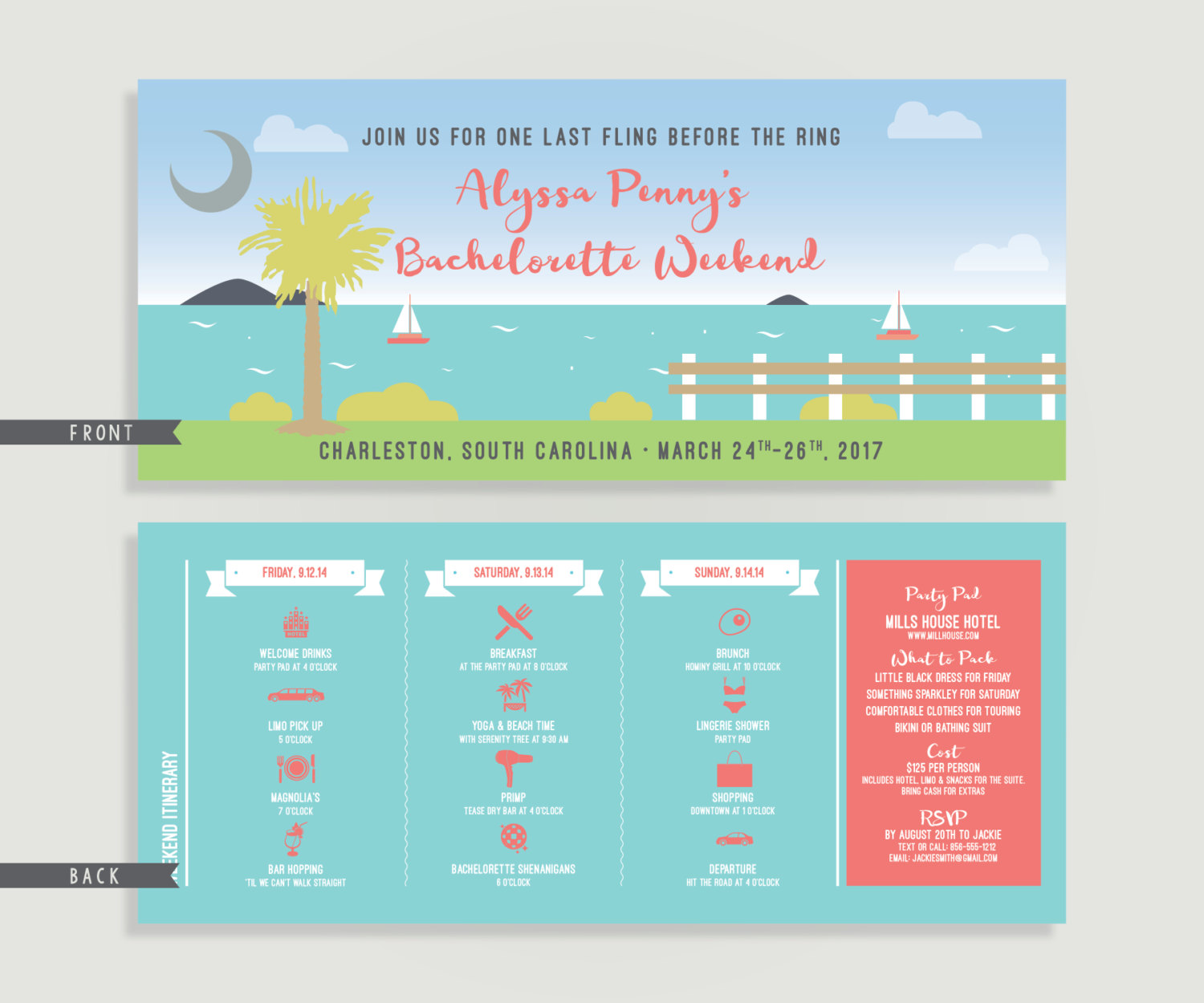 Our Favorite Etsy Bachelorette Invitations - Ultimate Bridesmaid