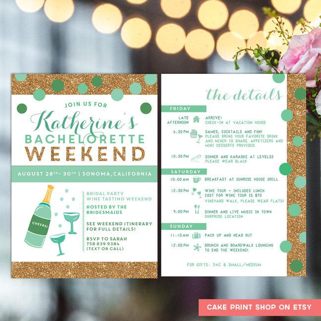 bachelorette invitations Archives Ultimate Bridesmaid – Bachelorette Party Weekend Invitations