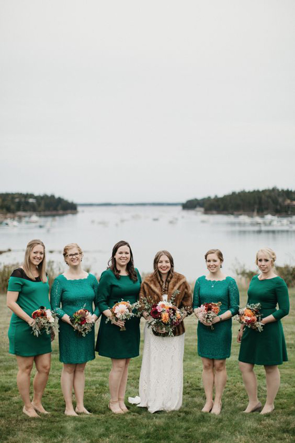 How to create a timeless bridesmaid look but still show your personality? Go bold with color!