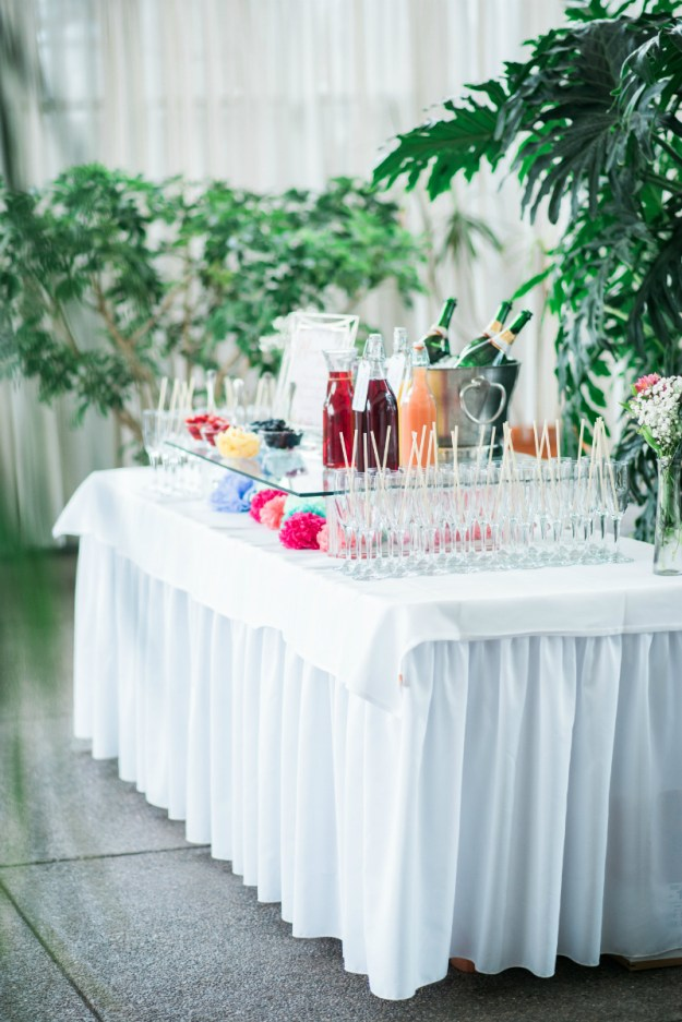 Bridal shower mimosa bar. A Sweet Garden Bridal Shower | Ultimate Bridesmaid | Kathryn Hyslop Photography