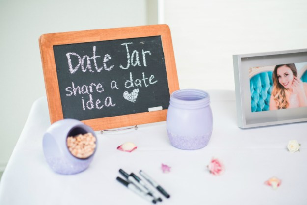 Bridal shower date jar. A Sweet Garden Bridal Shower | Ultimate Bridesmaid | Kathryn Hyslop Photography