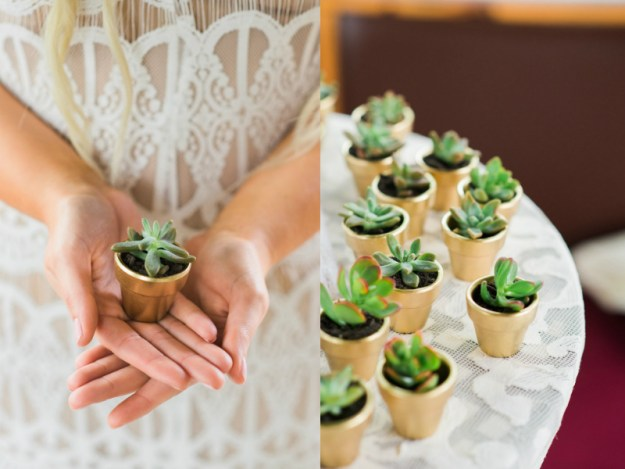 Succulent bridal shower favors. A Roses and Mimosas Bridal Shower Brunch | Ultimate Bridesmaid | Alisha Maria Photography