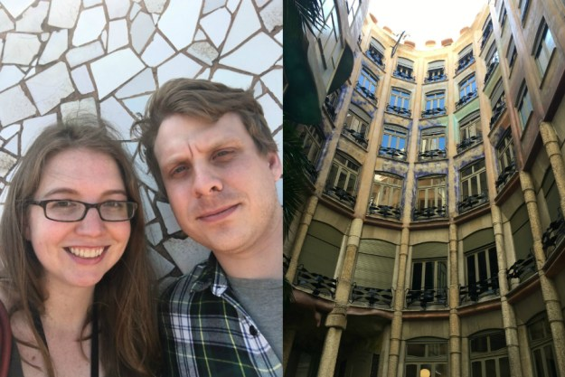 Visiting La Pedrera in Barcelona. We started our 10-day honeymoon in Spain with three days in Barcelona. Click for our full itinerary and recommendations!