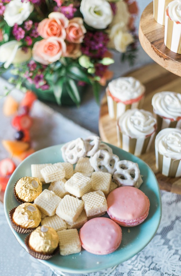Bridal shower desserts. A Gold and Blush Bridal Shower | Ultimate Bridesmaid | Anne Molnar Photography