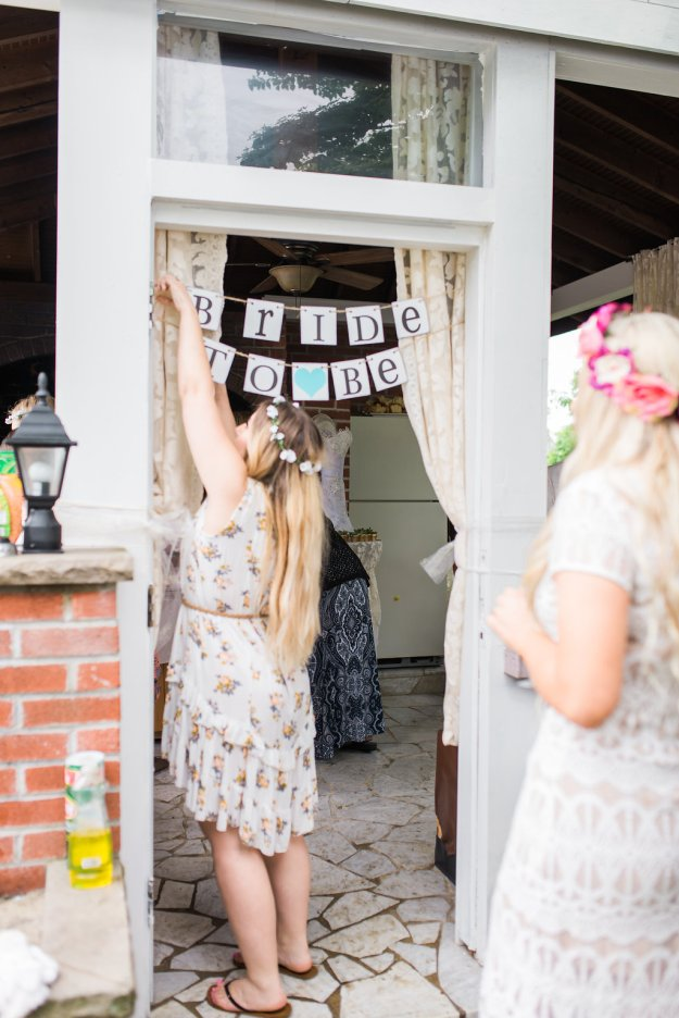 Cute bride-to-be banner. A Roses and Mimosas Bridal Shower Brunch | Ultimate Bridesmaid | Alisha Maria Photography